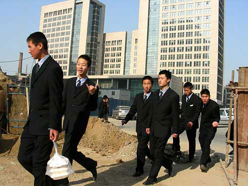 Young Chinese businessmen