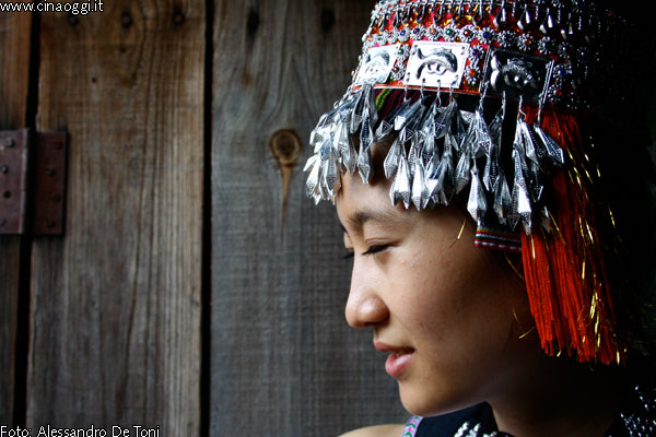 Young Chinese ethnic minority girl