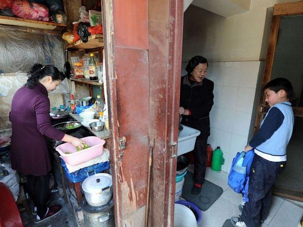 Families living in concrete silos