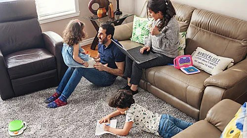 Tips for parenting during COVID-19 to help family's mental health.