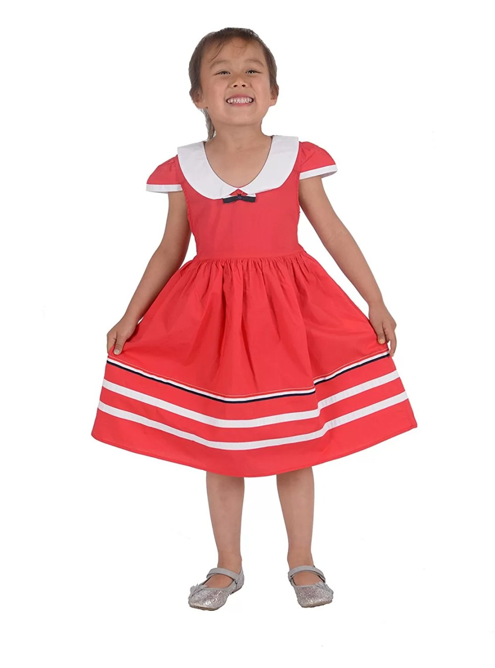 Cinda Baby Girls Summer Party Dress in Blue Red