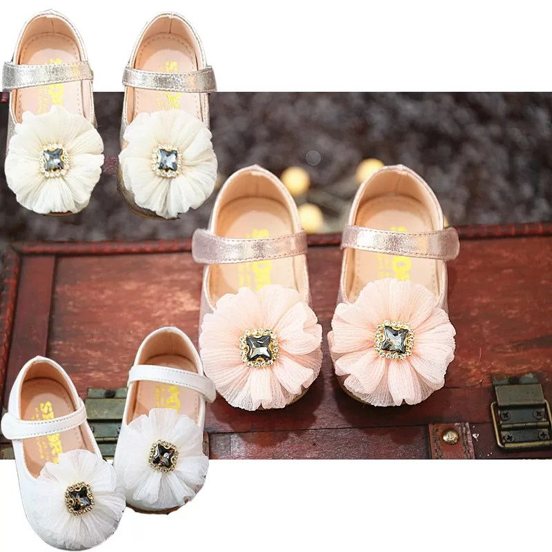 Baby Girls Sparkly Jewel Christening Shoes Party Shoes