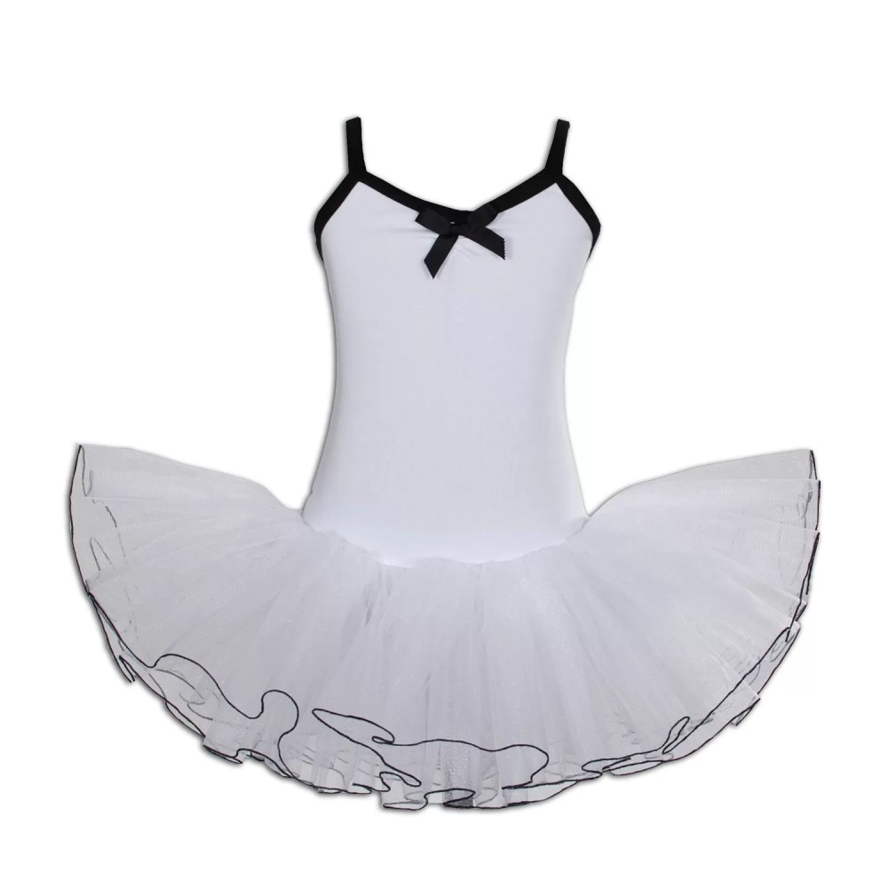 GIRLS BALLET DANCE TUTU DRESS PINK RED IVORY White 3-8 YEARS