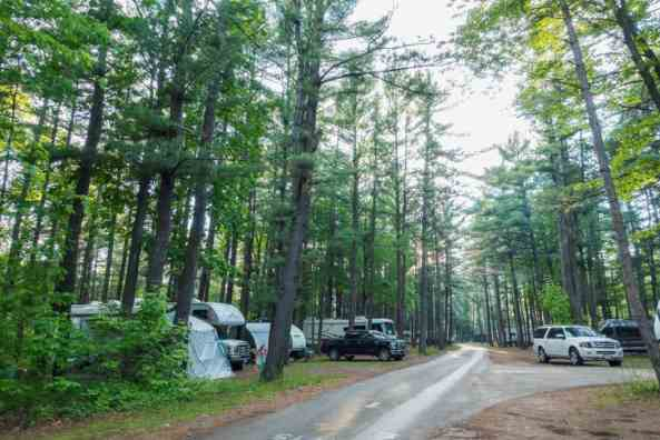 Traverse City State Park rv park partial hookup amenities