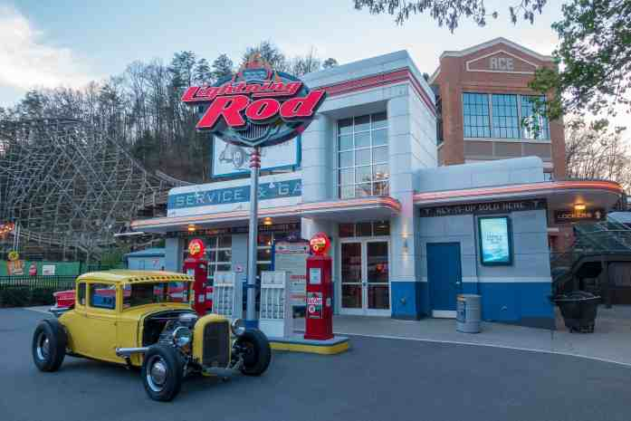 Lightning Rod Dollywood rollercoaster