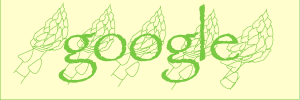 Google logo recognizing National Asparagus Month (see New Zealand). Note crazy asparagus at far right. Gotta' figure out how to move objects that have been drawn with the Pen tool.