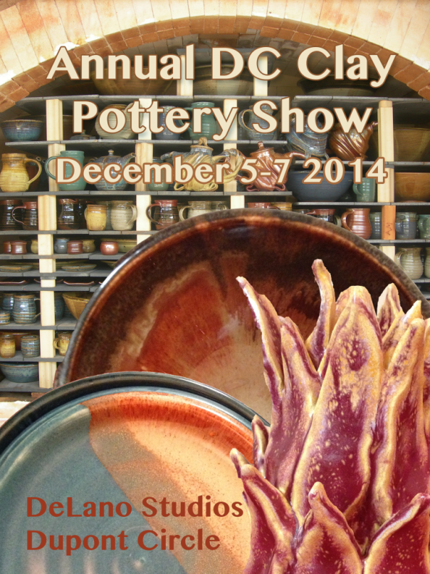 a poster describing a ceramics show