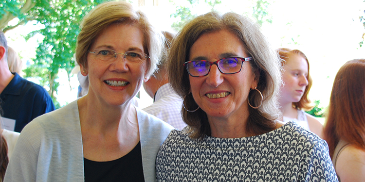 Elizabeth Warren and Cindy Friedman