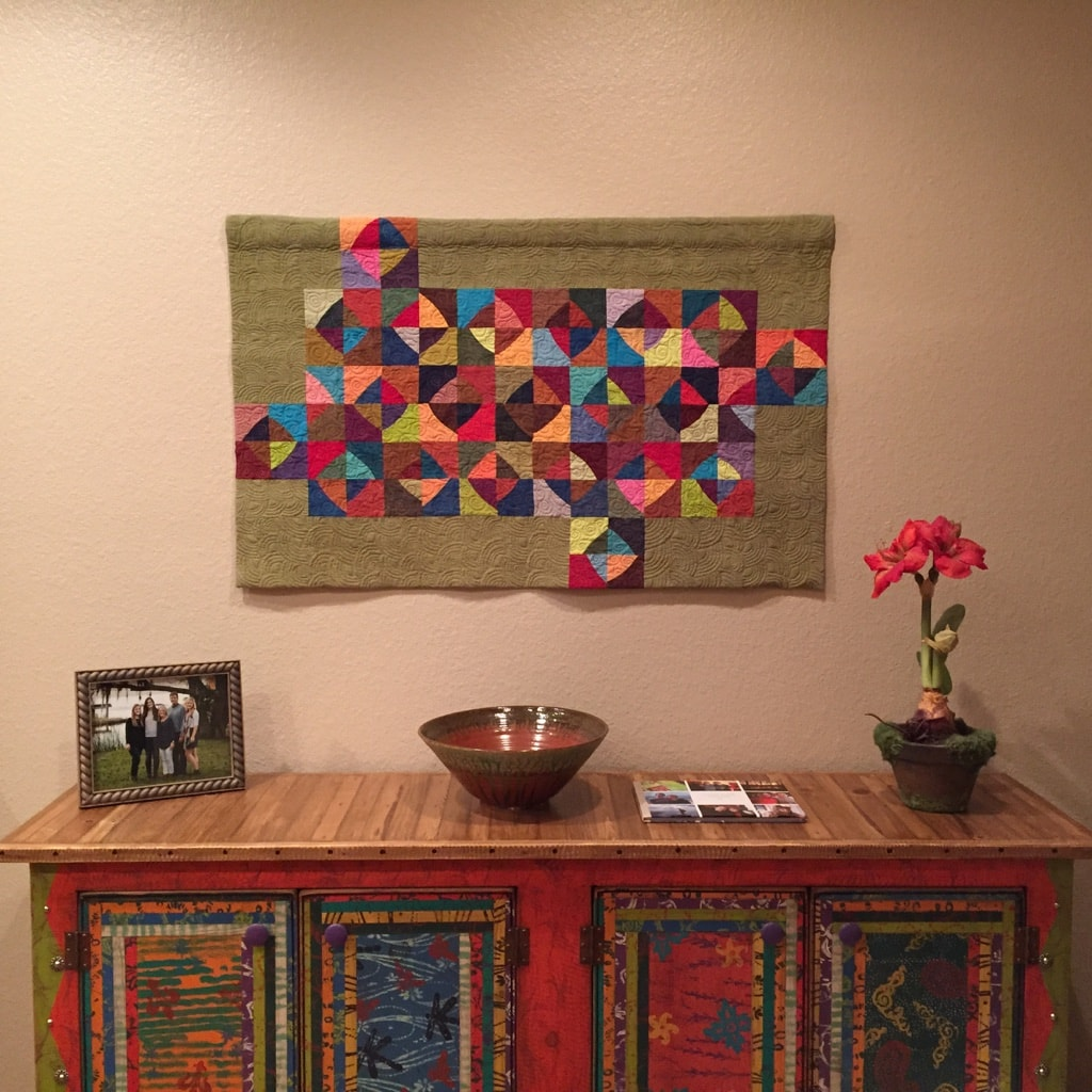 May I Have This Dance Art Quilt in private collection - Cindy Grisdela