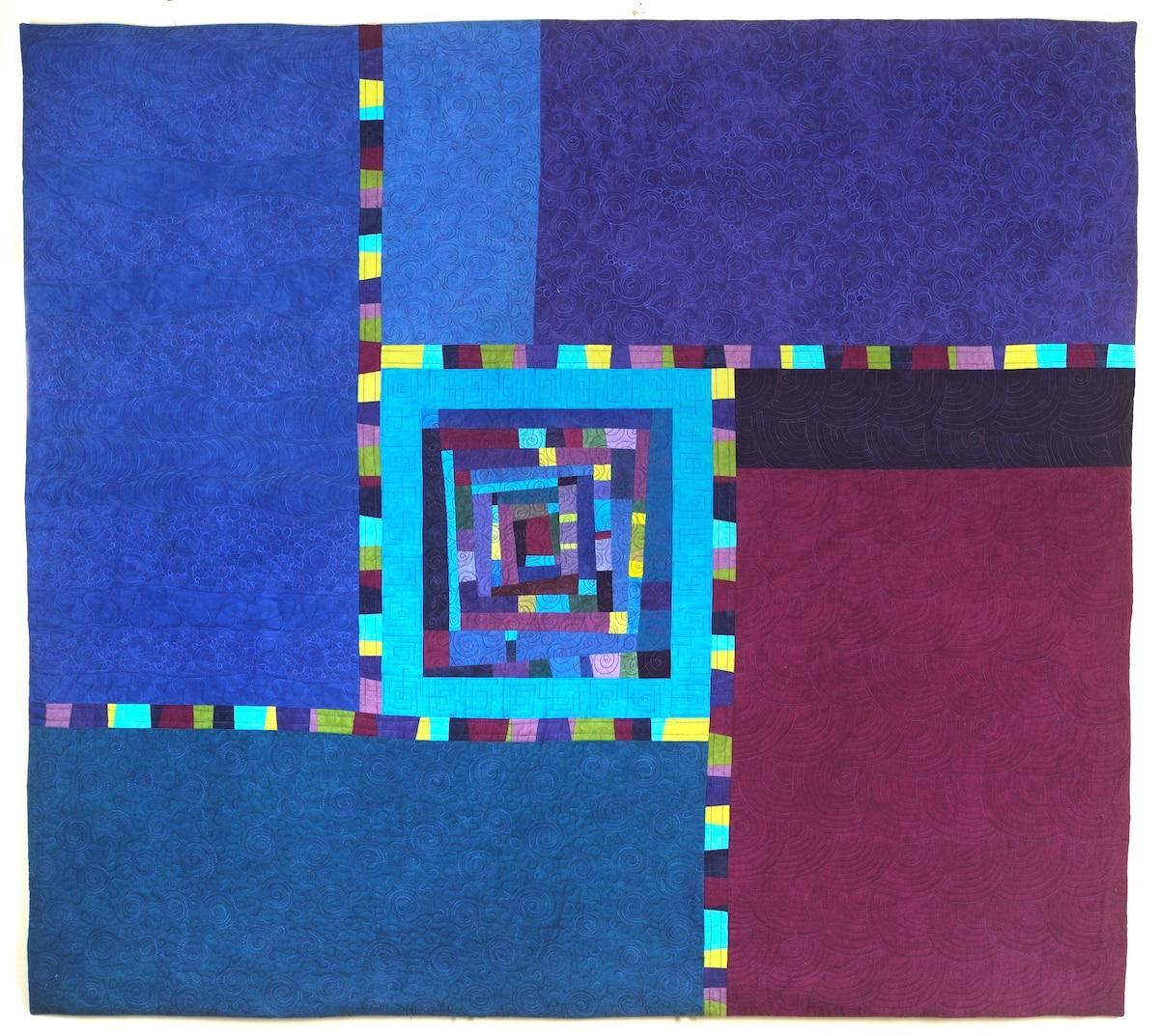 Northern Lights art quilt - Cindy Grisdela