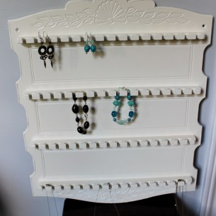 Old Spoon Rack turned Jewelry Holder
