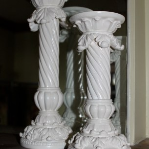 Spray painted candle holders
