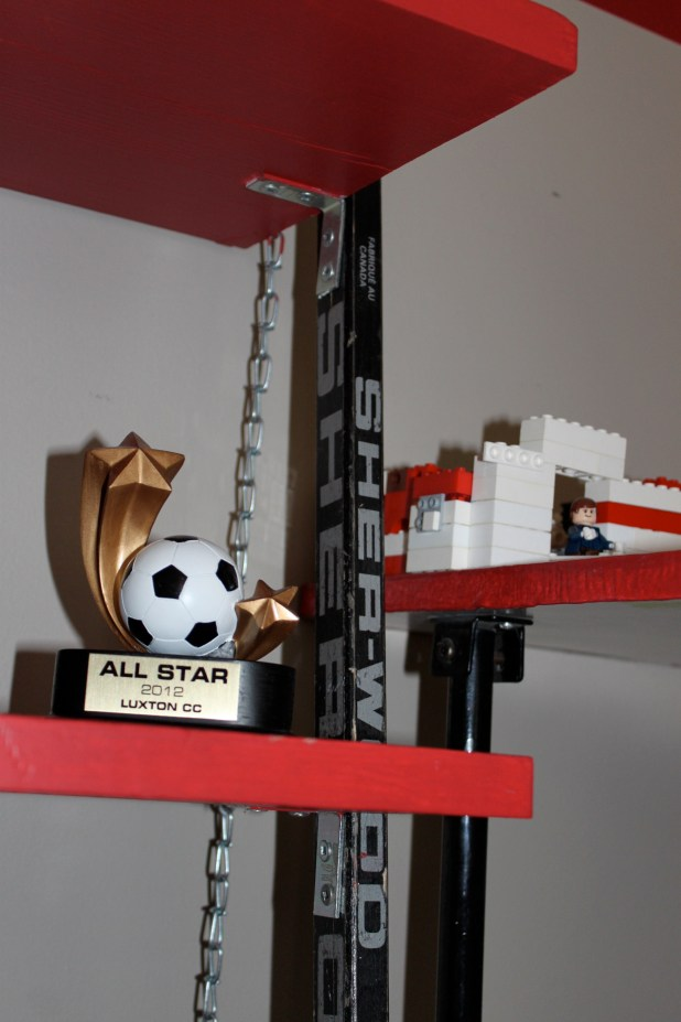 hockey stick shelf