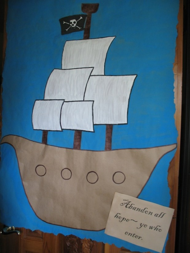pirate party door sign