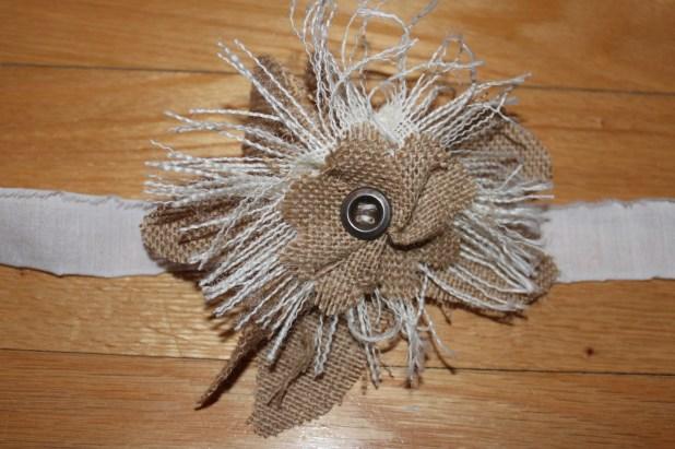 rustic burlap flower