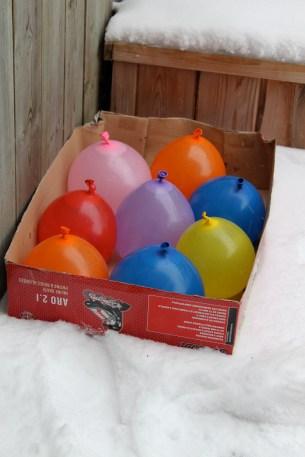 balloon ice lanterns