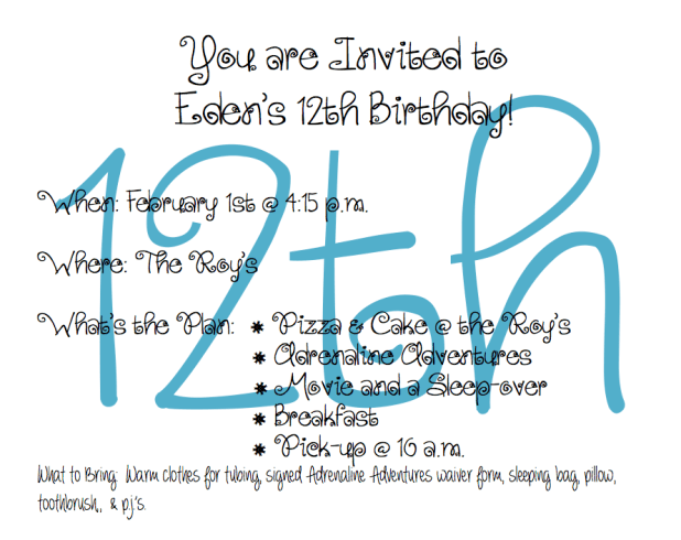 homemade birthday invitation