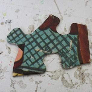 old puzzle piece
