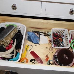 hair accessories drawer