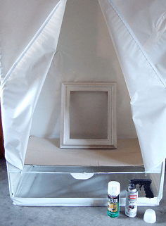 spray paint tent