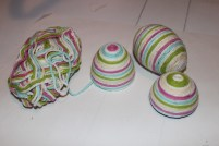 wool wrapped plastic eggs