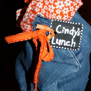 Blue Jean Lunch Bag