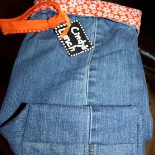 Blue Jean Lunch Bag
