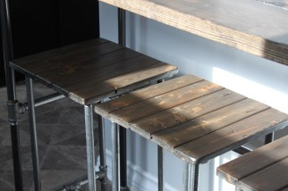 Industrial Style Table and Stools