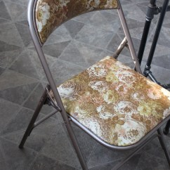 Folding Chair Upcycle Lounge Size Trash To Treasure Simple Cindy Roy