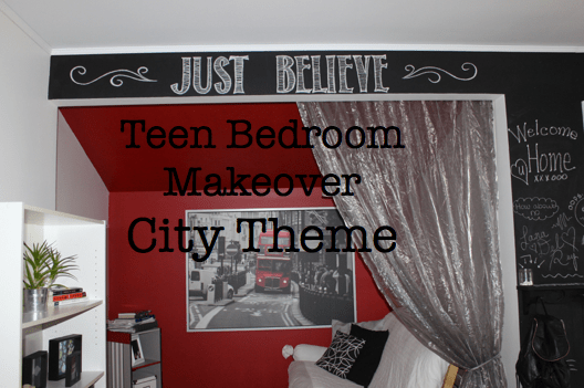 Teen Bedroom Makeover City Theme
