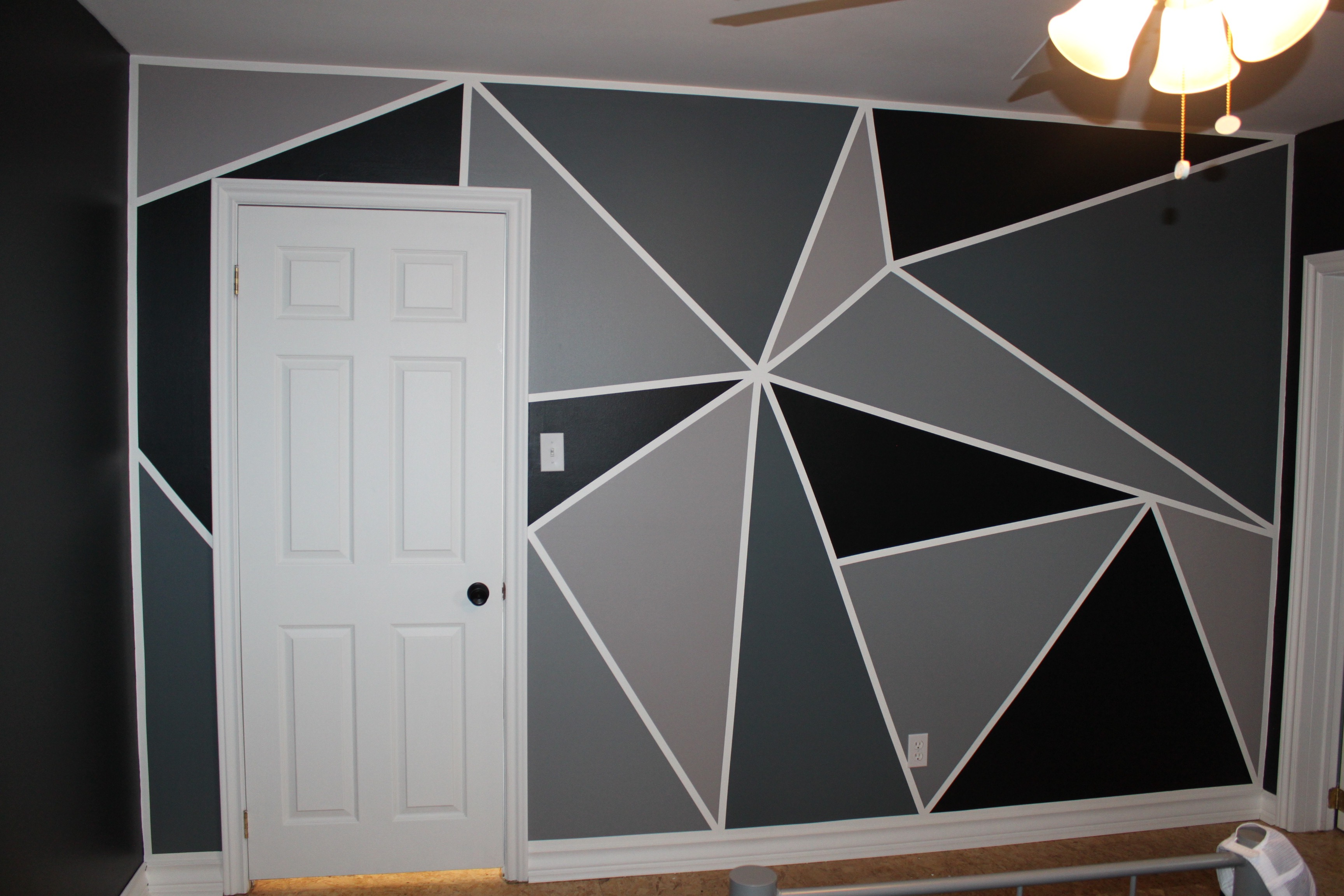 Bedroom Makeover: Part 3 ~ How to Paint a Feature Wall ...