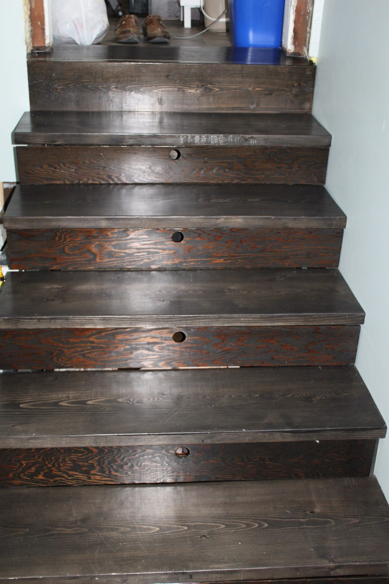 New stairs with drawers