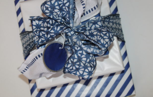 Blue and White Coordinated Gift Wrap2