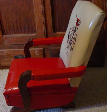 1950s Cowboy Childs Rocking Chair SOLD  Cindy Rennels