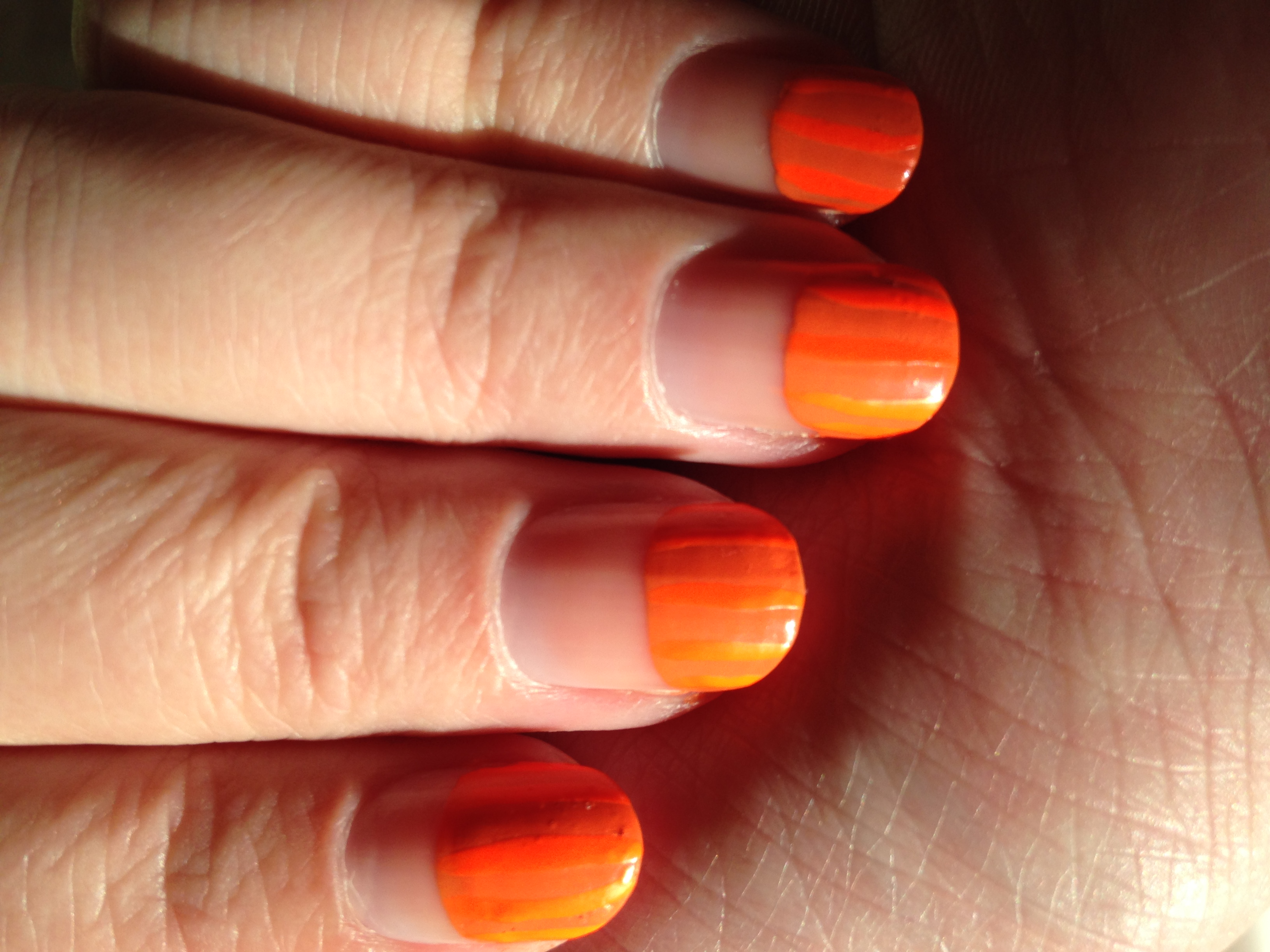 Halloween Pumpkin Nails - Cindy's Cute Corner