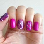 Matte Purple and Glitter Nails