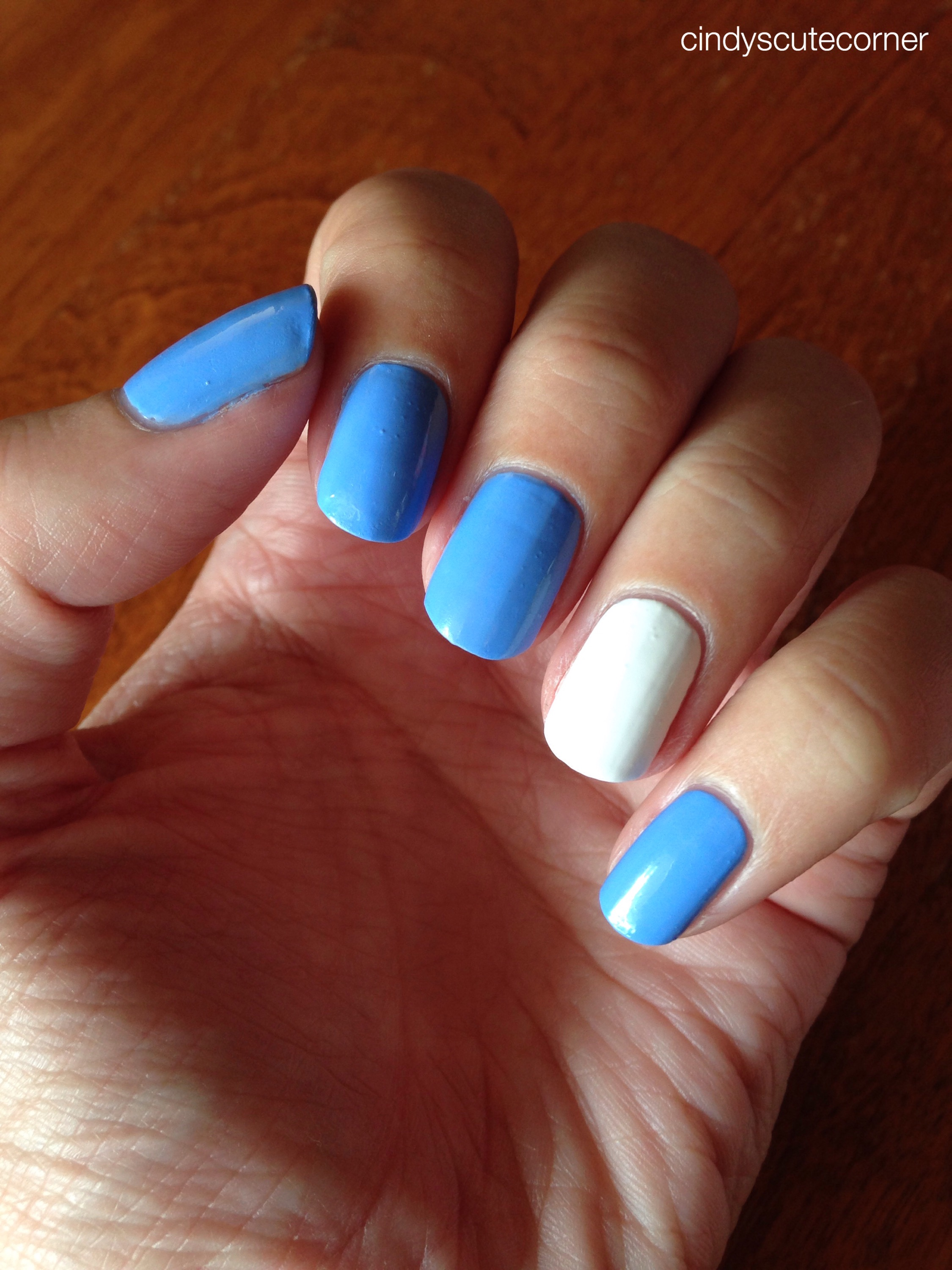 Baby Blue And Grey Bedroom: Baby Blue And White Nails