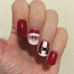 Santa and suit nails