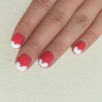 Heart French Tip Nail Art