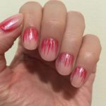 Pink Waterfall Nail Art