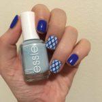 Blue Fishnet Nails