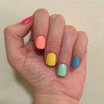 Spring Rainbow Nails