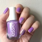 Purple and Silver Negative Space Nails