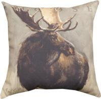 Bull Moose & Cow Moose, wildlife moose cotton throw ...