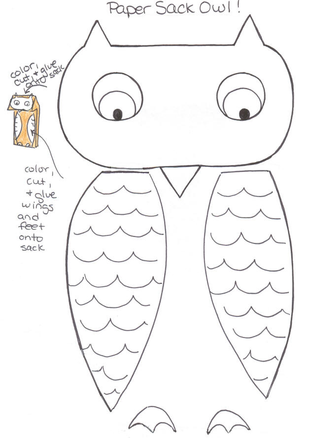 Camp Cindythings Make a Paper Sack Owl Puppet!!!