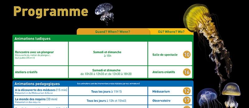 Programme des activités - Aquarium de Paris
