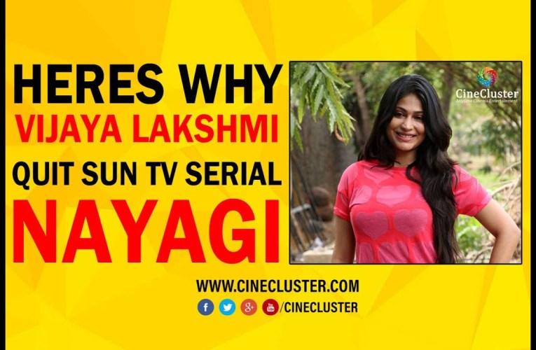 Here is why actress Vijayalakshmi quit SunTV serial Nayagi