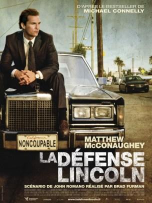 Michael Haller est un avocat influent et manipulateur de Los Angeles travaillant principalement dans sa voiture, une Lincoln, et rompu à défendre les petits trafiquants et voyous de tous bords.  Mais une affaire beaucoup plus sérieuse se présente à lui, avec l'inculpation d'un fils de grande famille pour viol et meurtre d'une prostituée. Il décide de se saisir de l'affaire, flairant une juteuse opération financière.  Mais tout ne se passe pas comme prévu...  Film américain de Brad Furman, sorti à Paris le25/05/2011 avec Matthew Mcconaughey, Ryan Phillippe et William H. Macy.   LIRE LA CRITIQUE