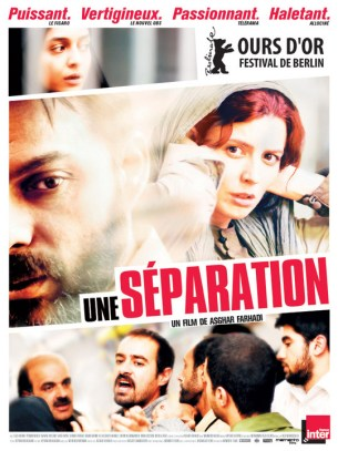 Nader, un père de famille iranien dont la femme vient de la quitter engage une jeune femme pour s'occuper de son père grabataire. Mais il ignore que celle-ci a pris le travail sans l'accord de son mari et qu'elle est enceinte.  Film iranien de Asghar Farhadi, sorti à Paris le 8/06/2011 avec Leila Hatami et Peyman Moaadi.  LIRE LA CRITIQUE