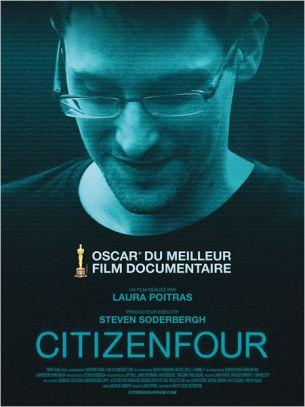 En 2013, Edward Snowden révèle des documents secret-défense de la NSA. Sous le nom le code « CITIZENFOUR », il contacte la documentariste américaine Laura Poitras.  Elle part le rejoindre à Hong Kong et réalise en temps réel CITIZENFOUR, un document historique unique et un portrait intime d'Edward Snowden. Film américano-allemand de  Laura Poitras, sorti en France le 4 mars, avec Glenn Greenwald, Kevin Bankston et Edward Snowden.  LIRE LA CRITIQUE